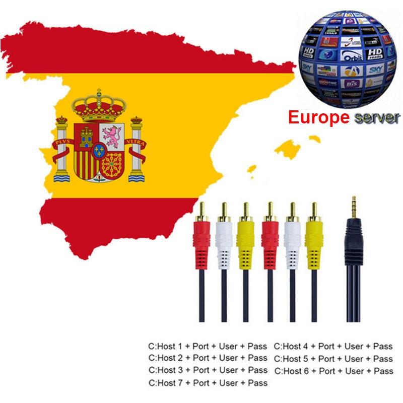 Best HD AV Cable Europe Cline 1 year C-lines Server 3 or 4 lines for Satellite TV Receiver DVB-S2 Decoder Spain Germany NL