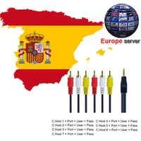 Best HD AV Cable Europe Cline 1 year C-lines Server 7 or 4 lines for Satellite TV Receiver DVB-S2 Decoder Spain Germany NL