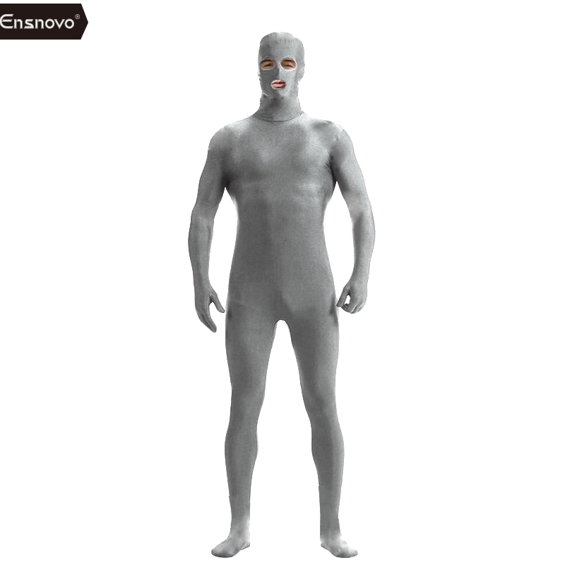 Ensnovo Տղամարդկանց Spandex Նեյլոնե Լիկրա Սև - Կարնավալային հագուստները - Լուսանկար 4