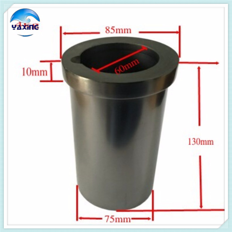 graphite crucible casting for melting metal 4kg high purity graphite crucible dia75x h80mm high pure melting graphite crucible for melting metal
