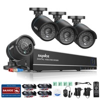 SANNCE 8CH CCTV Security System 4PCS 900TVL Weatherproof Night Vision IR Cut CCTV Cameras Video Surveillance