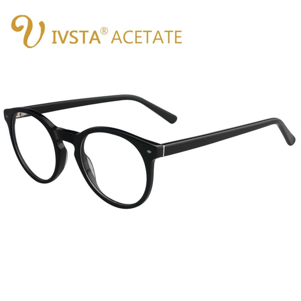 IVSTA чистый ацетат рамки Круглый очки для женщин Кошачий глаз Деми черепаха цвет очки Леди Оптический Рецепт Оливер