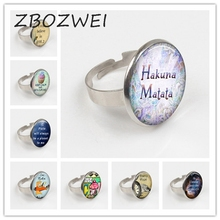 The New Fashion Bible Verse Christian Lettering Ring Glass Cabochon Quote Inspirational Jewelry Women Men Believe Gifts Ring zbozwie romans 8 31 bible quote ring if god is for us who can be against us verse christian nursery jewelry women men gifts ring