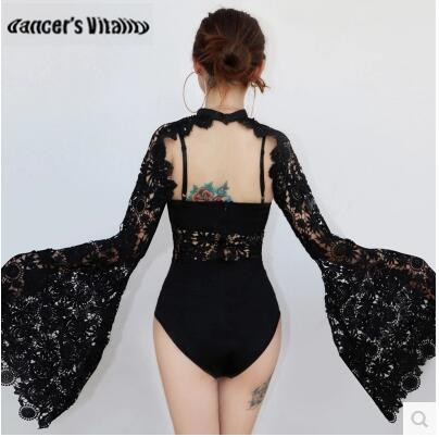Stage Costumes For Singers Costumes Bars Female DJ Costumes Ds Dress Sexy Clothing Female Stages Lace Bodysuit Stage Dress