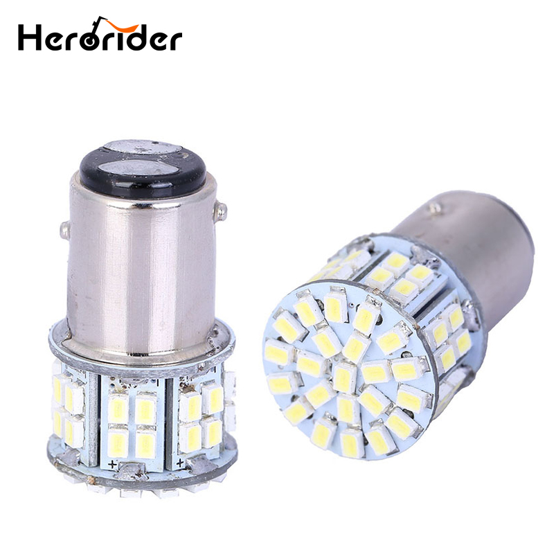 Herorider 1157 3020 <font><b>SMD</b></font> 50 Led Car Light BAY15D P21/5W Auto Brake Light Bulb Lamps Xenon for ford Car Styling White image
