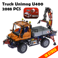 20019 2088Pcs Technic Truck Unimog U400 Compatible with lego 8110 Model Building Kits toys hobbies Educational Blocks Bricks