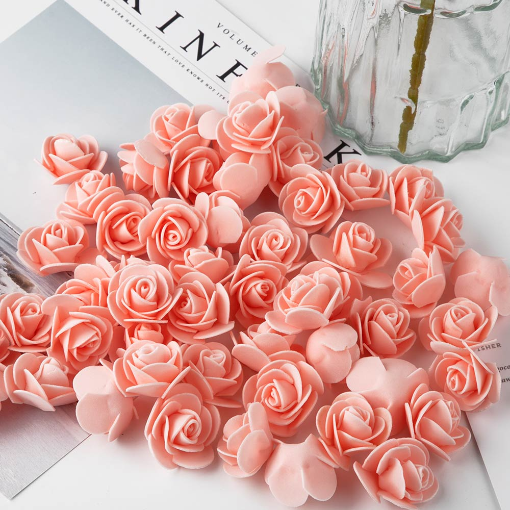 Image 3 - 1Pcs Polystyrene Styrofoam White Foam Bear Mold Artificial Flower Head Rose Teddy Valentine's Day Gifts Party Wedding Decoration-in Artificial & Dried Flowers from Home & Garden