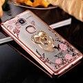 Металлическое Покрытие Bling Ромба Мягкий Чехол Для Huawei Honor 5X играть Кольцо Цветок Животных Стенд Телефон Обложка Для Huawei Honor 5X