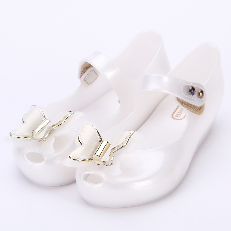 Mini Melissa Three Layers Butterfly Kids Shoes Saturn Modle Children Jelly Sandals Soft Bottom Princess Girl 2018 New Summer