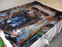 Michael Jackson MJ Dangerous World Tour Double Bed sheet Cover Bedspread 150x200 CM