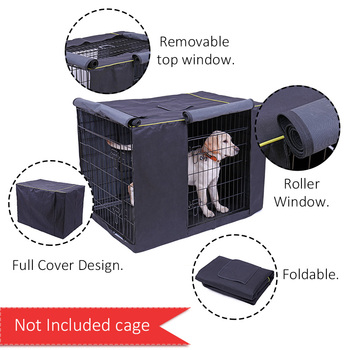 Dog Kennel Cover Oxford Durable Waterproof Windproof Dustproof Pet Dog Cat Kennel Cage Crate Cover Without Kennel Pet Accessory 1