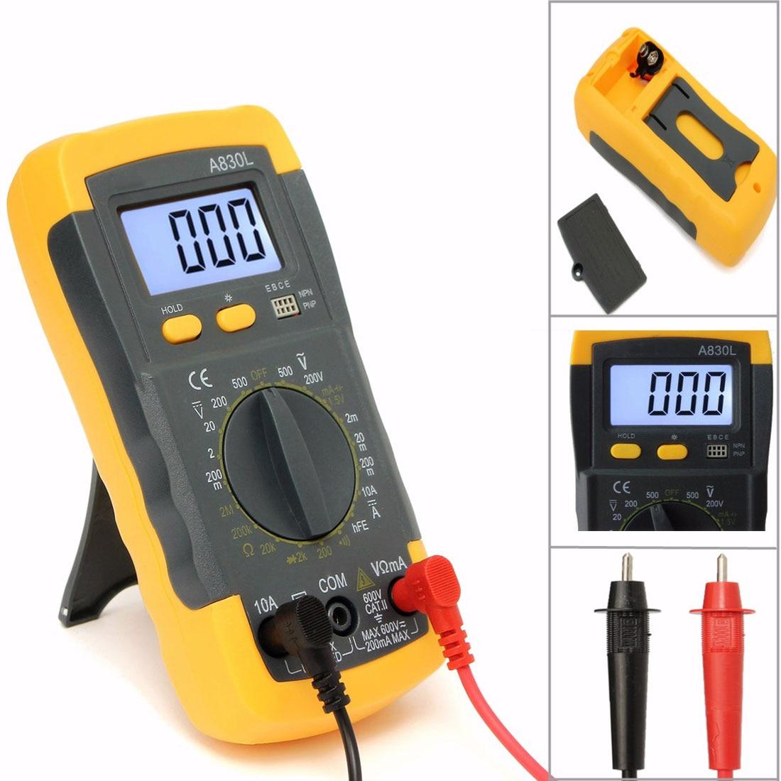 LCD Digital Voltmeter Ohmmeter Ammeter Multimeter Handheld Tester OHM VOLT
