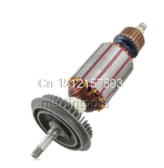 AC 220V Motor Rotor Armature Part for BOSCH GWS 6 - 100 Angle Grinder ac 220v electric cutting machine armature part motor rotor for bosch tgh 6ba