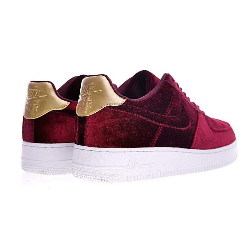 Aliexpress.com : Buy Nike AIR FORCE 1 VELVET AF Women Skateboard Shoes, Velvet Wine Red Velvet Sneaker Skateboard Shoes 896185 from Reliable skateboard ...