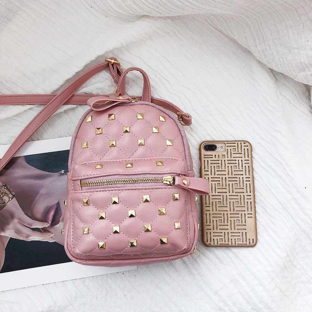 LEFTSIDE женские заклепки маленькие рюкзаки из искусственной кожи для девочек-подростков мини рюкзак 2018 сумка через плечо женские рюкзаки