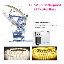 5V 1/ 2/3M USB Cable Power waterproof LED holiday String Garland Night Light TV Background Christmas Wedding party home decor