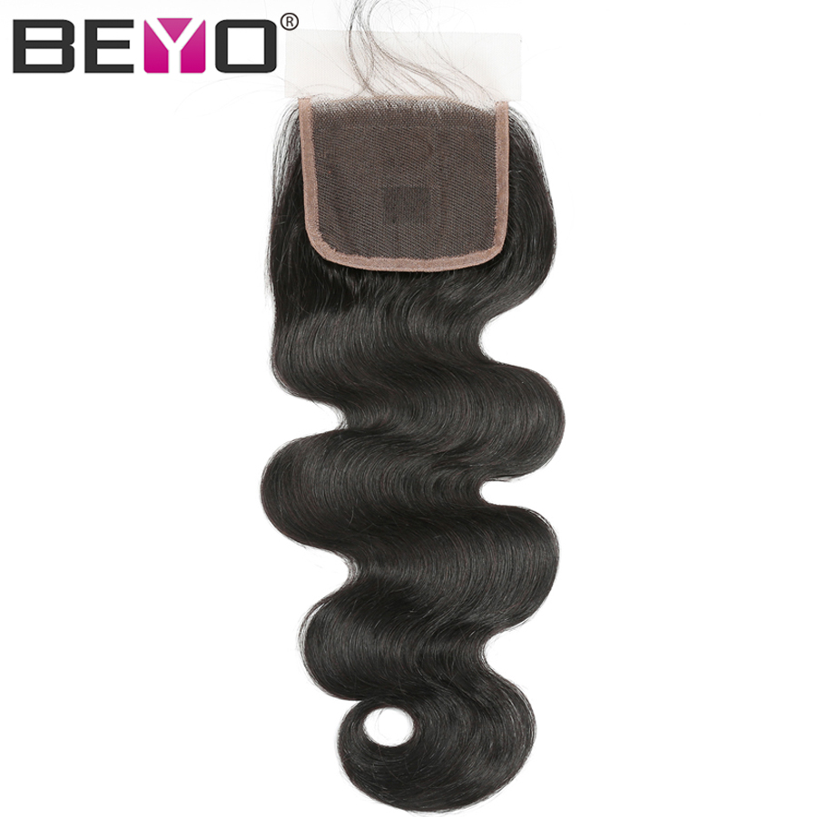 5x5 Brazilian Body Wave Lace Closure With Baby Hair Human Hair Closure Free Middle Three Part