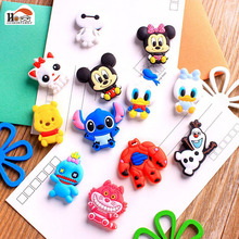 12pc/lot Animated cartoon Silica gel fridge magnets whiteboard sticker Refrigerator Magnets kids gift funny Early education toys
