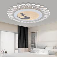 Круглые светодиодные лампы детская комната потолочные светильники теплый Павлин тонкий творческий освещение спальни потолочный светильн