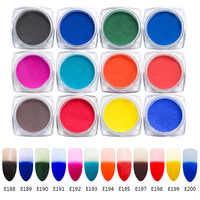 Mtssii 12 pièces changement de couleur thermique Pigment Set température changement de couleur poudre dégradé poudres manucure décoration