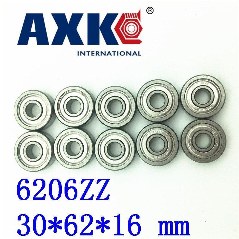 Axk 4pcs Free Shipping Miniature Deep Groove Ball Bearing 6206zz 30*62*16 Mm 4pcs free shipping double rubber sealing cover deep groove ball bearing 6206 2rs 30 62 16 mm