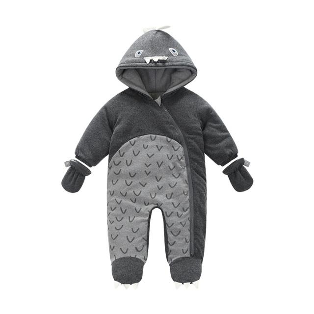 0-24 M Bebé Mamelucos 2017 Rusia Invierno Infantil Chicos Ropa de Viento algodón Infant Costume Mono Caliente Envío Gratuito