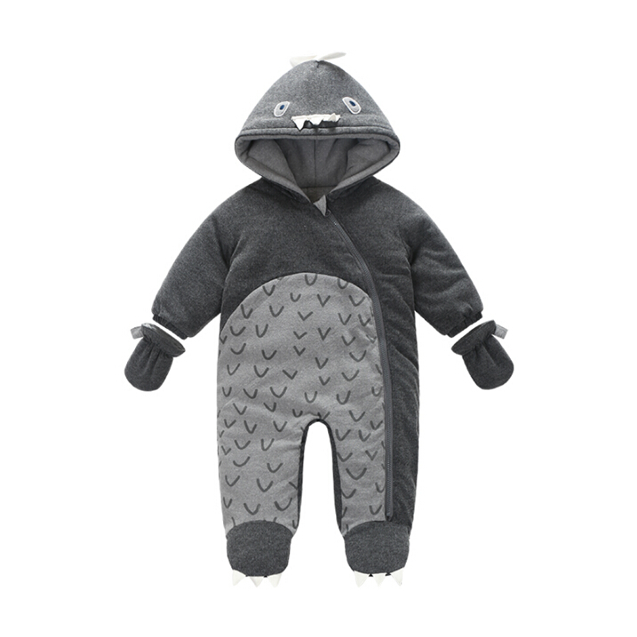 0-24M Baby Rompers 2017 Russia Winter Kids Boys Clothing Wind cotton Infant Costume Warm Jumpsuit Free Shipping