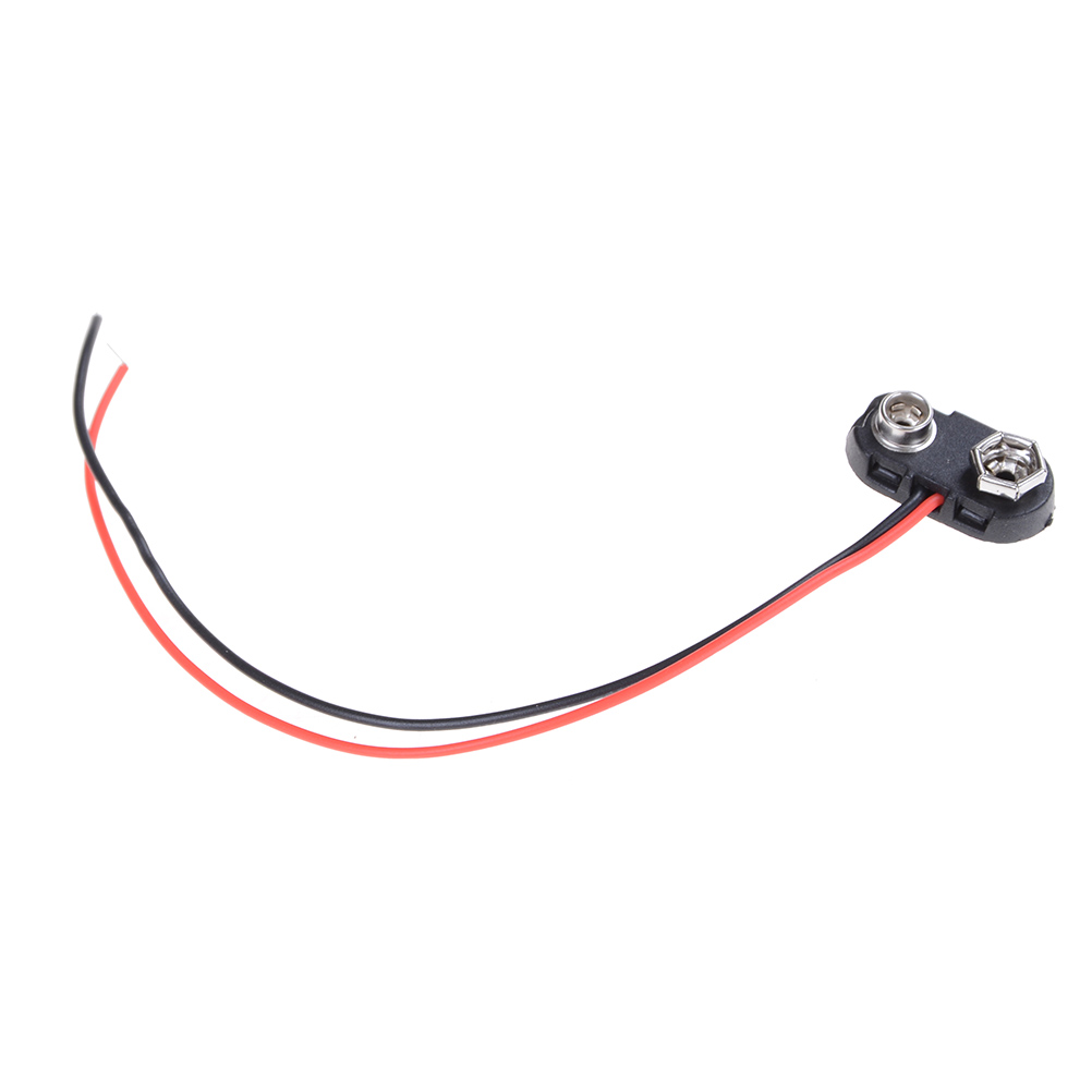 10pcs Brand New 9V Battery Snap Connector clip Lead Wires holder T Type KHH/_DD