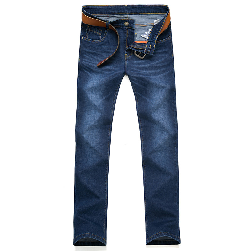 Free shipping 2017 spring jeans Men s casual fashion straight 100 cotton jeans Men high