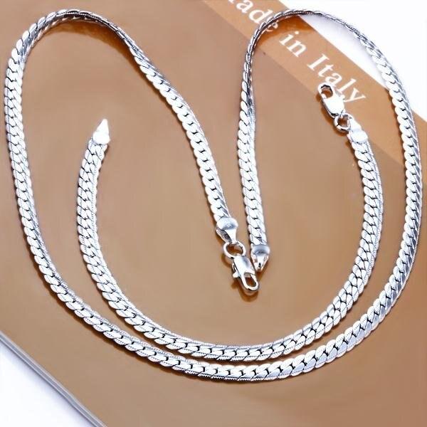 Fss085 20174 Fashion Men S 925 Sterling Silver Bracelet Necklace Whole Jewelry Set