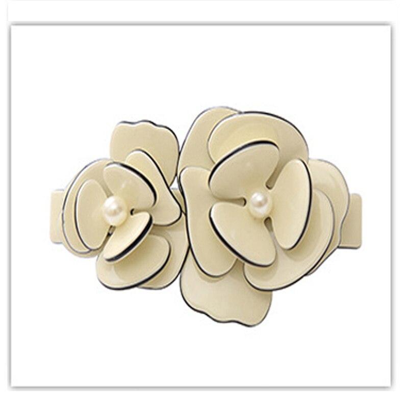 Fashion Flower Hair spring clip Acetate french hair Barrettes for women fancy Girl hair jewelry orament hairpins accessaries