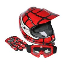 DOT Youth font b Kids b font Red Spider Net Motocross Off Road font b Helmet