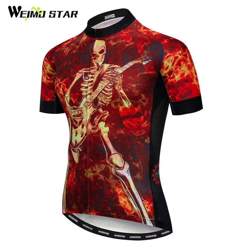 Weimostar Fire Skull Cycling Jersey Men Summer Breathable MTB Bike Jersey Shirt Ropa Ciclismo Quick Dry Racing Bicycle Clothing Weimostar Fire Skull Cycling Jersey Men Summer Breathable MTB Bike Jersey Shirt Ropa Ciclismo Quick Dry Racing Bicycle Clothing