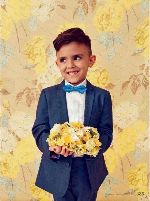Малыш Полный Дизайнер Мальчик Свадебный Костюм/Мальчиков Наряд Заказ Свадебные Костюмы Для Мальчиков