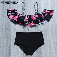 VINIKNIKA Bikini Swimwear Women Swimsuit 2017 Brand Sexy Bikini Set Bathing Suit Printing High Waist Brazilian