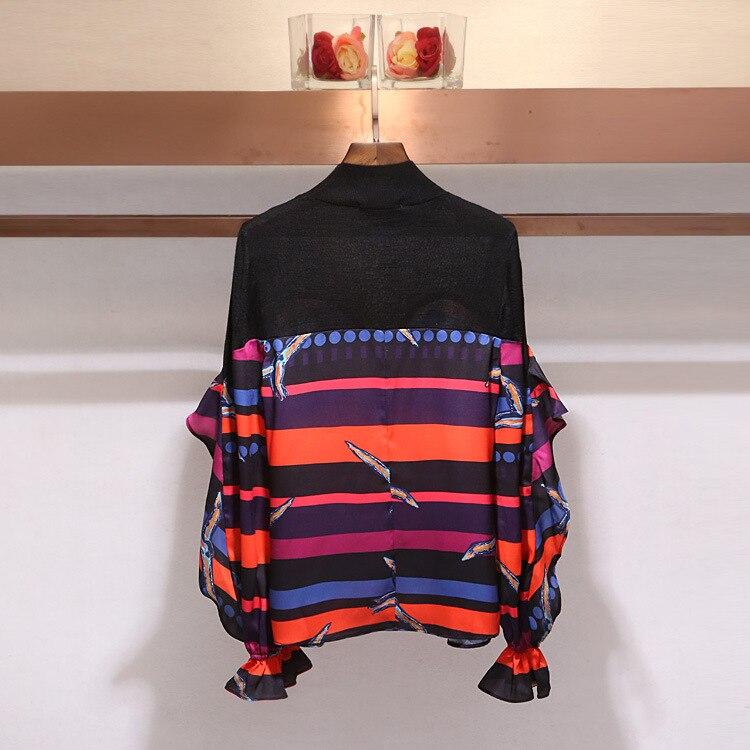 Imprimé Femmes Supérieure Nouvelle Mode Tricoté Floral Xiangshi Qualité Laine Couture De Chandail FvCwdfqxfa
