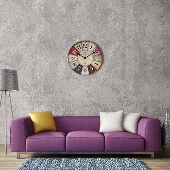Wooden Wall Clock Retro Style