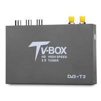 T338B HD DVB T2 USB TV Receiver for Car Digital TV Tuner Box with 2 Amplifier Antenna