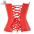 Señorita Moly Womens Sexy Steampunk Red Faux Leather Buckles Corset Bustier Top Corsé Cuerpo Fajas Cintura Cincher Corselet S-6XL