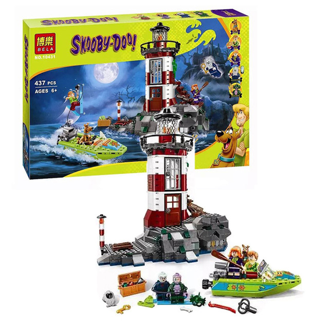 BELA 10431 Compatible with Lego Lepin Scooby Doo Haunted Lighthouse 75903 Building Blocks Bricks Best Toys For Children lepin 02012 city deepwater exploration vessel 60095 building blocks policeman toys children compatible with lego gift kid sets