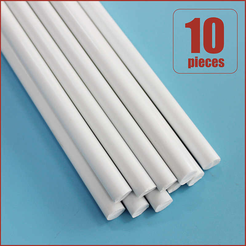 White ABS Plastic Rod Round Solid Bar DIY Model Material 250mmx1//2//3mm