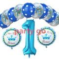 Розовый/синий номер 1 гелиевые шары ясно горошек воздушный шар латекса дети день рождения украсить это мальчик/девочка принцесса мяч