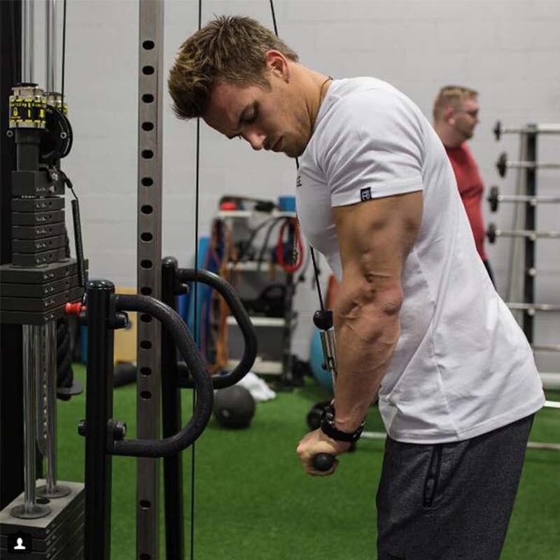 @1  Мужская беговая фитнес-футболка с коротким рукавом с коротким рукавом с коротким рукавом Yoga спорти ★
