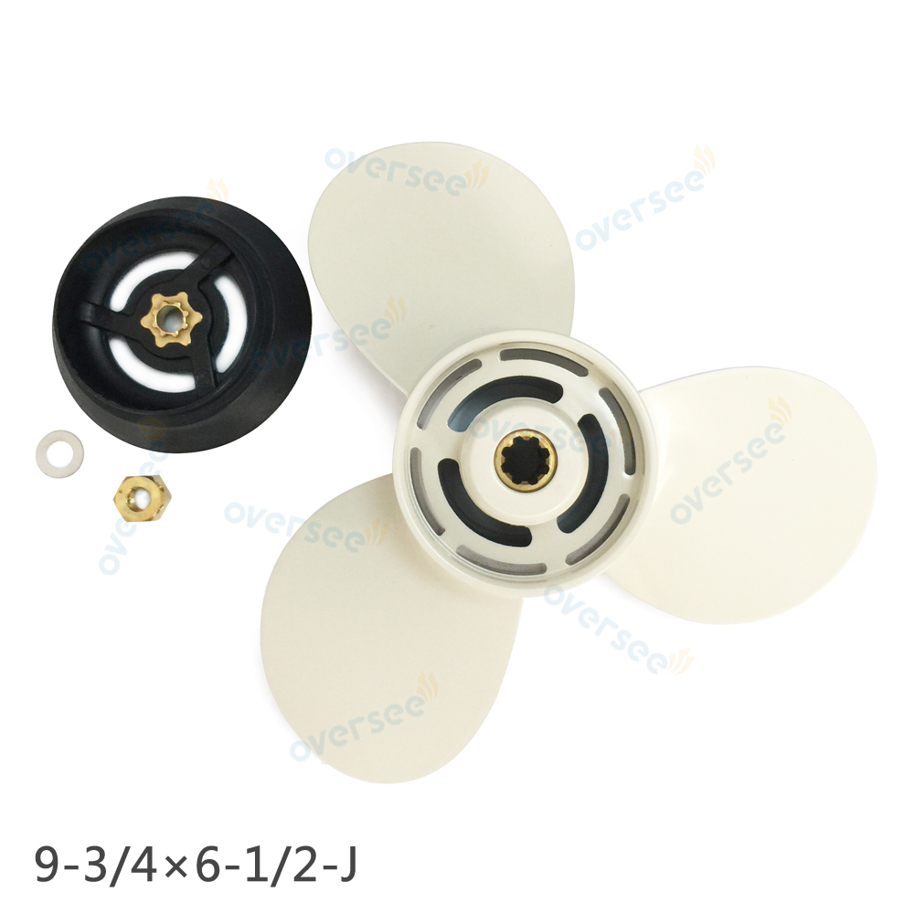 ФОТО  Propeller 683-W4592-02 Kit with Deflector Ring 6E7-45986-00 For 9.9HP 15HP YAMAHA Outboard Propeller  683-W4592