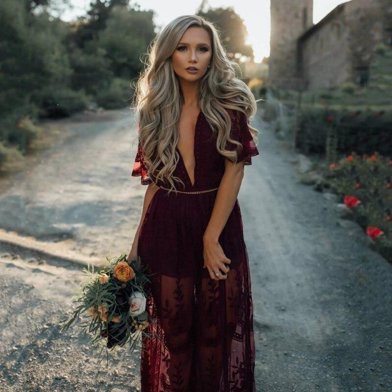 Sommer Weibliche Retro elegante Frauen Lange Chiffon Spitze Perspektive Größe Kleider Party Vestidos
