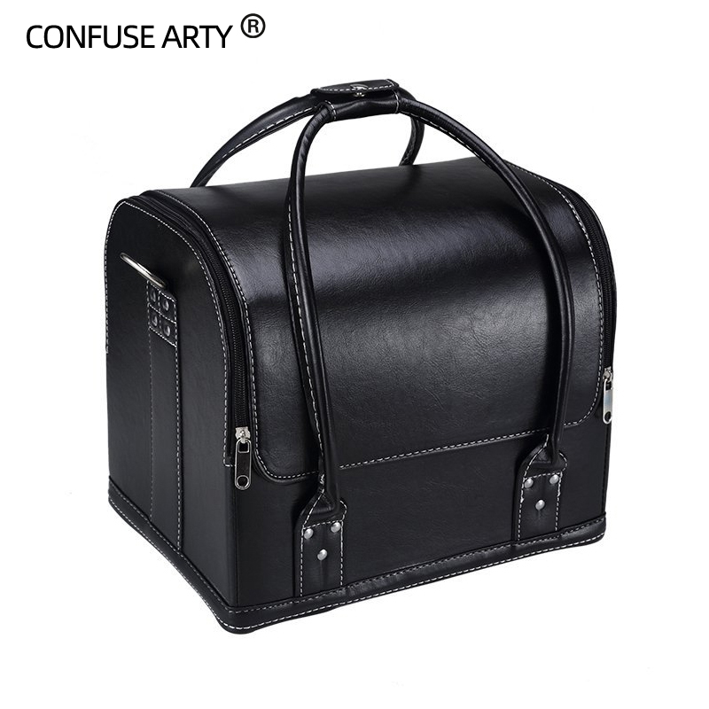 Professional large multi storey cosmetic bag large capacity with makeup box Multifunction nail tattoo machine cosmetic