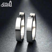 High Quality 316 L Stainless Steel Earrings for Women Perfect Polished Circle Stud Trendy Jewelry IE17