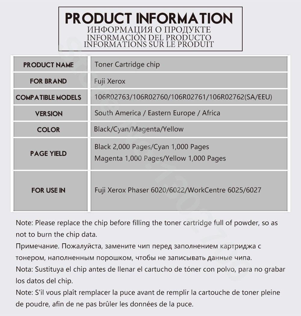 8PCS 106R02763 2760/2761/2762 Xerox Phaser 6020 6022 WorkCentre 6025 - Ofis elektronikası - Fotoqrafiya 5