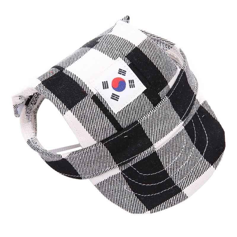 d1f6d82efe2 Dog Caps Mini Pet Summer Canvas Cap Dog Baseball Visor Hat Puppy Outdoor Cap  Ear Hole