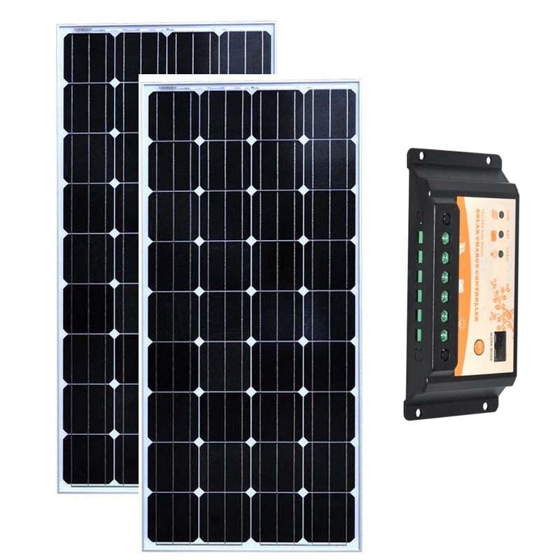 Zestaw Solaire 300w Placa słonecznego 12v 150w 2 sztuk Solar ładowarka regulator słoneczny 12 v/24 v 20A przyczepa kempingowa RV